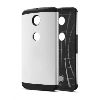 Силиконовый премиум чехол с поликарбонатной крышкой для Google Nexus 6