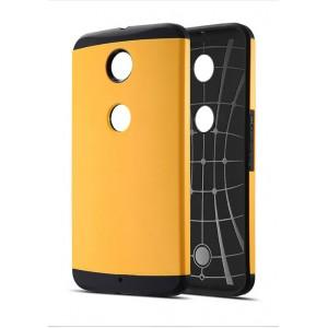 Силиконовый премиум чехол с поликарбонатной крышкой для Google Nexus 6 Желтый