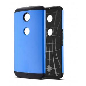 Силиконовый премиум чехол с поликарбонатной крышкой для Google Nexus 6 Синий