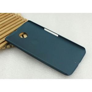 Пластиковый матовый металлик чехол для Google Nexus 6