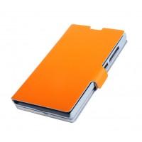 Чехол-флип с магнитной застежкой для Nokia XL Оранжевый