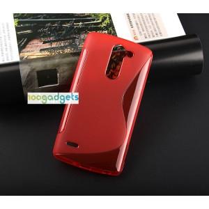 Силиконовый S чехол для LG G3 Stylus Красный
