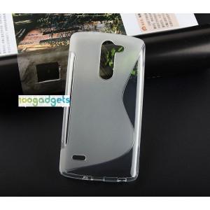 Силиконовый S чехол для LG G3 Stylus Белый