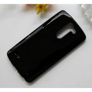 Силиконовый матовый полупрозрачный чехол для LG G3 Stylus Черный
