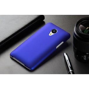 Пластиковый матовый непрозрачный чехол для Meizu MX4 Pro Синий