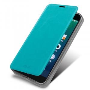 Чехол флип подставка водоотталкивающий для Meizu MX4 Голубой