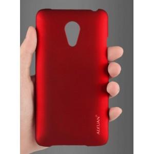 Пластиковый матовый металлик чехол для Meizu MX4 Pro Красный