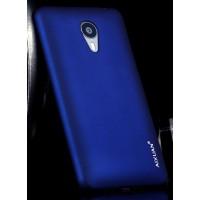 Пластиковый матовый металлик чехол для Meizu MX4 Pro Синий