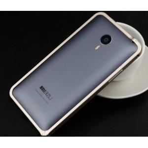 Металлический бампер для Meizu MX4 Pro Бежевый