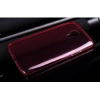 Силиконовый ультратонкий полупрозрачный чехол для Meizu MX4 Pro Красный