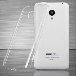 Силиконовый ультратонкий полупрозрачный чехол для Meizu MX4 Pro Белый