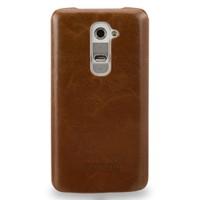 Кожаный чехол накладка (нат. вощеная кожа) для LG G2