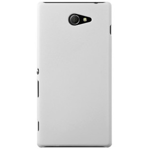Пластиковый чехол для Sony Xperia M2 dual Белый