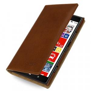 Кожаный чехол портмоне (нат. кожа) для Nokia Lumia 1520