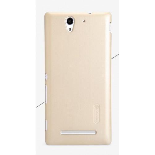 Пластиковый матовый нескользящий премиум чехол для Sony Xperia C3 (Dual)