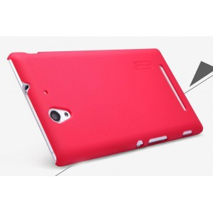 Пластиковый матовый нескользящий премиум чехол для Sony Xperia C3 (Dual) Пурпурный