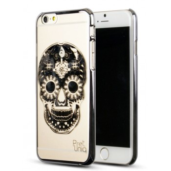 Эксклюзивный тонкий ультрамягкий силиконовый чехол с золотым дизайнерским напылением для Iphone 6