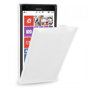 Кожаный чехол книжка вертикальная (нат. кожа) для Nokia Lumia 1520