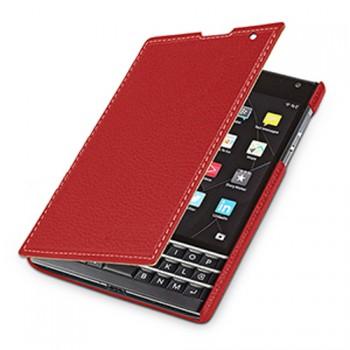 Кожаный чехол горизонтальная книжка (нат. кожа) для Blackberry Passport
