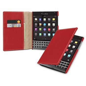 Кожаный чехол портмоне (нат.кожа) для Blackberry Passport