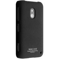 Пластиковый матовый чехол с повышенной шероховатостью для Nokia Lumia 620 Черный