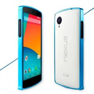 Металлический бампер для Google LG Nexus 5 Голубой