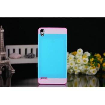 Двуцветный силиконовый чехол для Huawei Ascend P6