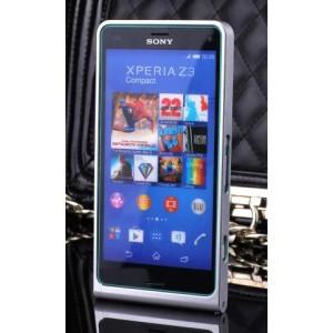 Металлический бампер для Sony Xperia Z3 Compact Белый