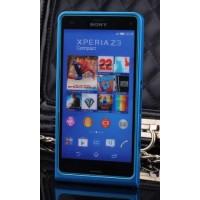 Металлический бампер для Sony Xperia Z3 Compact Синий
