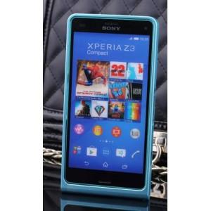 Металлический бампер для Sony Xperia Z3 Compact Голубой