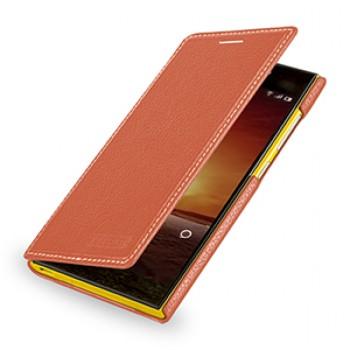 Кожаный чехол книжка (нат. кожа) для Xiaomi Mi3