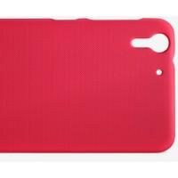 Пластиковый матовый нескользящий премиум чехол для HTC Desire Eye Красный