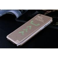 Точечный чехол смарт-флип с функциями оповещения для HTC Desire Eye Бежевый