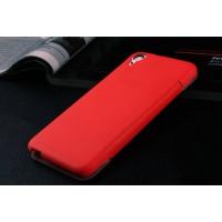 Точечный чехол смарт-флип с функциями оповещения для HTC Desire Eye Красный