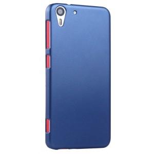 Пластиковый матовый металлик чехол для HTC Desire Eye Синий