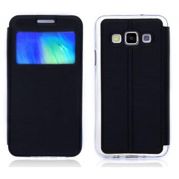 Чехол флип подставка на силиконовой основе с окном вызова для Samsung Galaxy A3