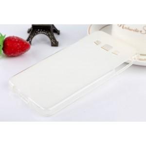 Силиконовый матовый полупрозрачный чехол для Samsung Galaxy A3 Белый