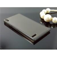 Силиконовый полупрозрачный чехол для Huawei Ascend P6 Черный