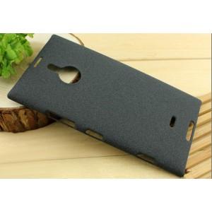Пластиковый матовый чехол для Nokia Lumia 1520 Черный