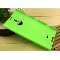 Пластиковый матовый чехол для Nokia Lumia 1520 Зеленый