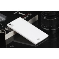 Пластиковый матовый непрозрачный чехол для Prestigio Multiphone Grace 7557 Белый