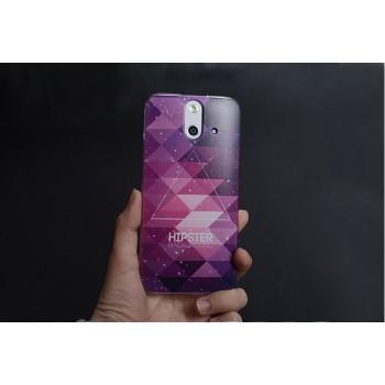 Пластиковый матовый дизайнерский чехол с принтом Space для HTC One E8