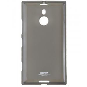 Силиконовый матовый полупрозрачный чехол для Nokia Lumia 1520 Черный