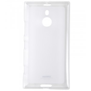 Силиконовый матовый полупрозрачный чехол для Nokia Lumia 1520 Белый