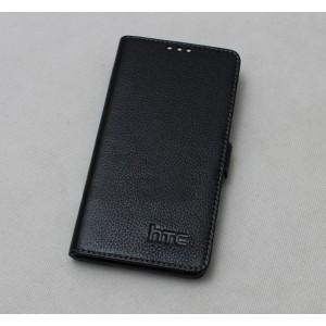 Кожаный чехол портмоне (нат. кожа) для HTC One E8 Черный