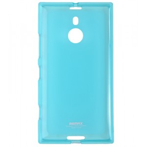 Силиконовый матовый полупрозрачный чехол для Nokia Lumia 1520 Голубой