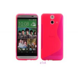Силиконовый S чехол для HTC One E8 Красный