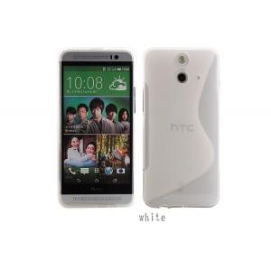 Силиконовый S чехол для HTC One E8 Белый