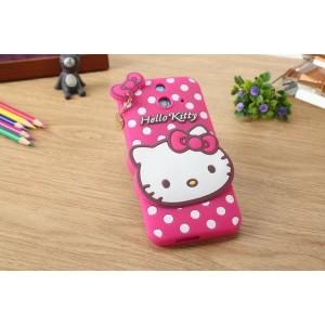 Силиконовый дизайнерский фигурный чехол серия Hello Kitty для HTC One E8
