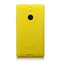 Текстурный нескользящий чехол из жесткого силикона серии Rocon для Nokia Lumia 1520 Желтый